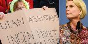 Demonstration för LSS. Åsa Regnér. TT