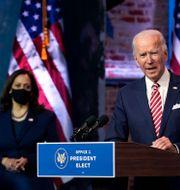 Joe Biden och Kamala Harris.  Andrew Harnik / TT NYHETSBYRÅN
