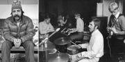 """Janne """"Loffe"""" Carlsson 1976, samt tillsammans med bandet Hansson och Karlsson, 1967.  TT"""