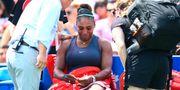 Serena Williams efter att hon tvingades avbryta  WTA-finalen i Toronto.  VAUGHN RIDLEY / GETTY IMAGES NORTH AMERICA