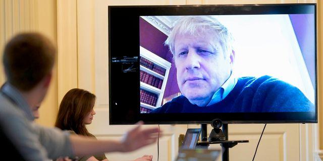 Boris Johnson via länk från förra veckan. Andrew Parsons10 Downing Street / TT NYHETSBYRÅN