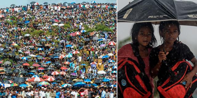 Tiotusentals flyktingar samlas för att protestera TT