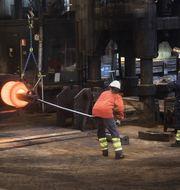 Ovako stålverk i Hofors. Foto: Fredrik Sandberg/TT