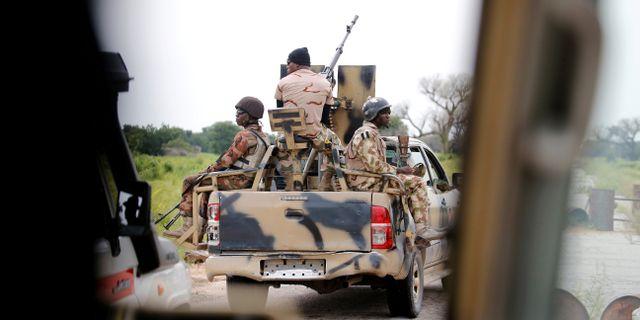 Arkivbild: Nigerianska soldater i delstaten Borno AFOLABI SOTUNDE / TT NYHETSBYRÅN