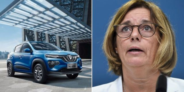 Renault K-ZE, klimatminister Isabella Lövin Renault / TT