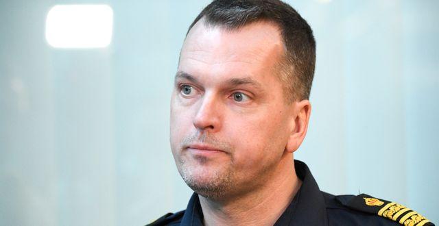 Polisens underrättelsechef i region Syd, Mats Karlsson.  Johan Nilsson/TT / TT NYHETSBYRÅN