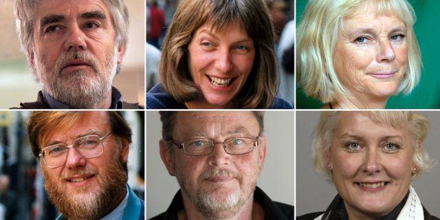 Per Gahrton, Fiona Björling, Eva Goës, Jan Axelsson, Birger Schlaug och Lotta Hedström. TT