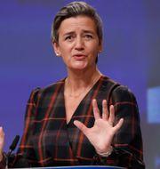 EU:s konkurrenskommissionär Margrethe Vestager.  Olivier Hoslet / TT NYHETSBYRÅN