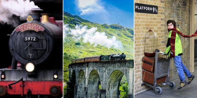 Verklighetens Hogwarts Express går genom de skotska högländerna, från Fort William till Mallaig. TT/ Shutterstock / Karen Roe