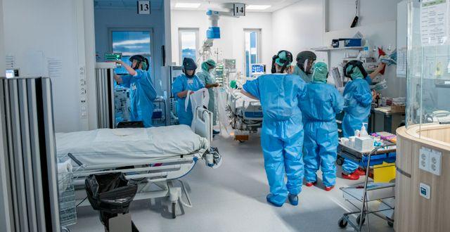 Arkivbild: IVA på Södertälje sjukhus 2020 Staffan Löwstedt/SvD/TT / TT NYHETSBYRÅN
