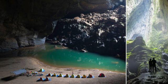 Bara ingången till världens största grotta, Son Doong, är 5 kilometer lång och 200 meter hög Istock/Shutterstock