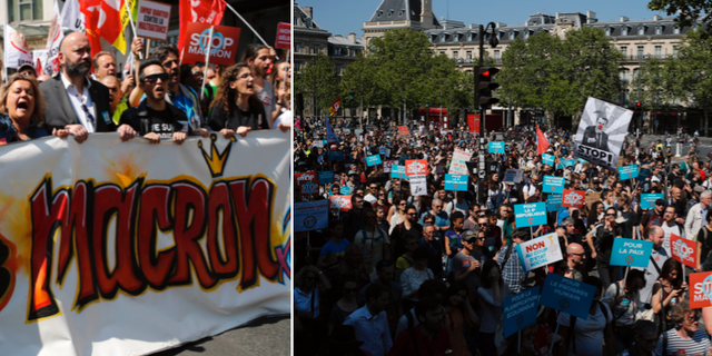 Protester vid fransk ambassad