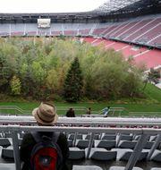 Naturen har tagit över Wörtherseestadion i Österrike – åtminstone tillfälligt. TT Nyhetsbyrån