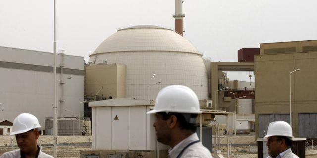 Reaktorbyggnaden vid Bushehrkraftverket i Iran. BEHROUZ MEHRI / AFP