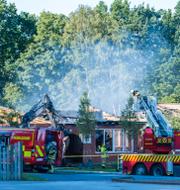 Ewa-Gun Westford/Brand på skola Lund i juli.  TT
