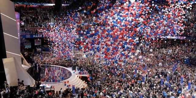 Republikanernas konvent i Cleveland den 21 juli 2016. Arkivfoto. John Locher / TT NYHETSBYRÅN