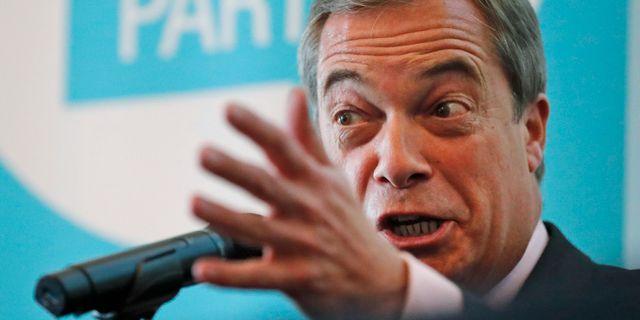 Nigel Farage under en pressträff tidigare i veckan. Frank Augstein / TT NYHETSBYRÅN/ NTB Scanpix