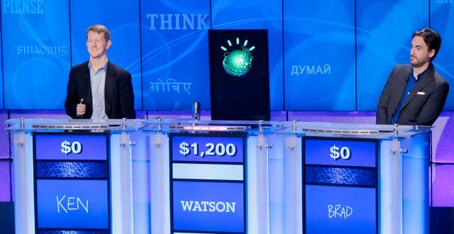 Watson tävlar i Jeopardy 2011. Seth Wenig / TT NYHETSBYRÅN