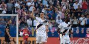 Zlatan Ibrahimovic firar med sina lagkamrater efter 1–0-målet Kirby Lee / TT NYHETSBYRÅN