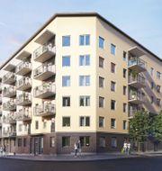 Ägarlägenheterna i JM:s kvarter Horisont Barkarby Norra beräknas ha tillträde under 2023 och 2024.  Visionsbild: Horisont Barkarby Norra