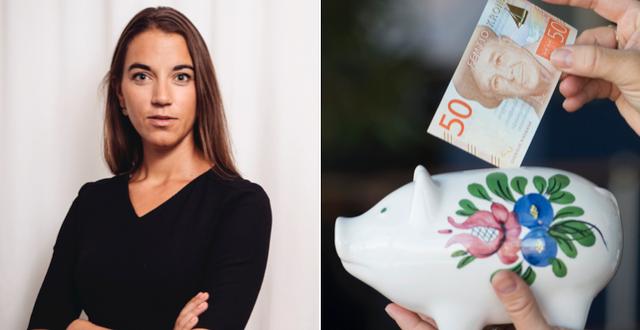 Johanna Kull, sparekonom på Avanza.  TT