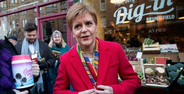 SNP:s Nicola Sturgeon.  Jane Barlow / TT NYHETSBYRÅN