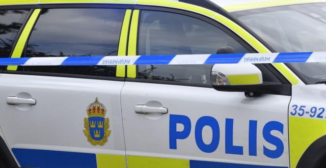 Polisbilar. Henrik Montgomery/TT / TT NYHETSBYRÅN