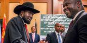 Salva Kiir och Riek Machar. Mulugeta Ayene / TT NYHETSBYRÅN