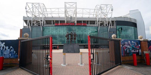 Tomt utanför Manchester Uniteds hemmaarena Old Trafford. Jon Super / TT NYHETSBYRÅN