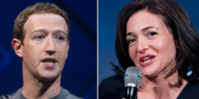 Facebooks vd Mark Zuckerberg och operativa chefen Sheryl Sandberg. TT