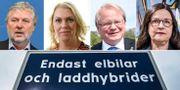 Peter Eriksson (MP), Lena Hallengren (S), Peter Hultqvist (S) och Anna Ekström (S). TT.