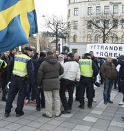 Demonstrationen vid Norrmalmstorg. Marcus Ericsson/TT / TT NYHETSBYRÅN