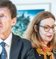 Birgitte Bonnesen och före detta styrelseordförande Lars Idermark. Lars Pehrson/SvD/TT / TT NYHETSBYRÅN