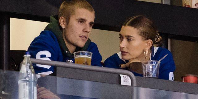 Justin Bieber och Hailey Baldwin. Chris Young / TT NYHETSBYRÅN/ NTB Scanpix