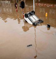 Bild från från översvämningarna i Belgien. Valentin Bianchi / TT NYHETSBYRÅN