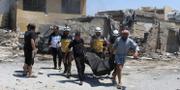 Foto från syriska Vita hjälmarna.  TT