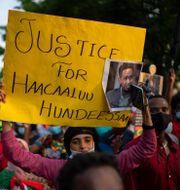 Protester efter Hachalu Hundessas död. Jeff Wheeler / TT NYHETSBYRÅN
