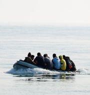 Migranter på Engelska kanalen. Arkivbild. Gareth Fuller / TT NYHETSBYRÅN