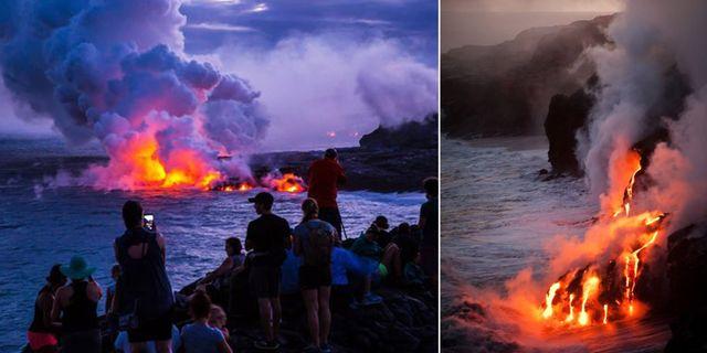 Rinnande glödhet lava är en riktigt kraftfull syn. Wikicommons