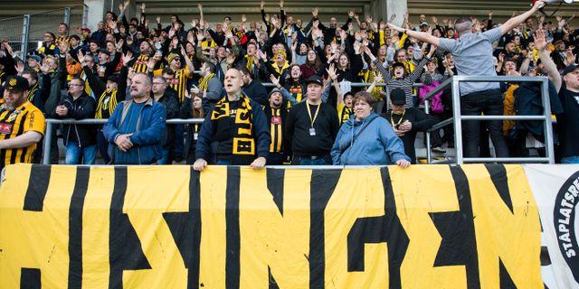 Häckens klack under matchen mot AFC Eskilstuna. MICHAEL ERICHSEN / BILDBYRÅN