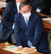Yoshihide Suga i samband med sitt tal till parlamentet Koji Sasahara / TT NYHETSBYRÅN