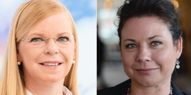 Helena Hagberg och Tina Acketoft. Arkivbilder. Liberalerna, TT