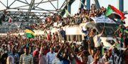 Demonstranter i huvudstaden Khartoum. TT NYHETSBYRÅN