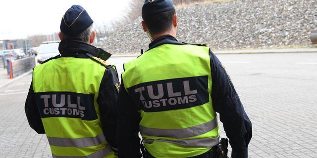 Tullpolis i Malmö. Johan Nilsson/TT / TT NYHETSBYRÅN