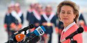 Ursula von der Leyen under besöket i Jordanien. JOHN MACDOUGALL / POOL