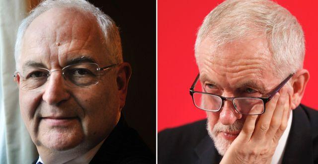 FT:s Martin Wolf och Labours Jeremy Corbyn Stefan Gustavsson/SvD/TT, Frank Augstein/AP/TT
