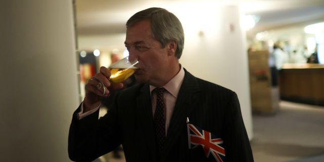 Arkivbild: Nigel Farage i EU-parlamentet i Bryssel Francisco Seco / TT NYHETSBYRÅN