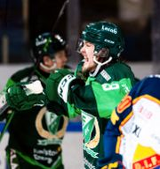 Bild från matchen.  FREDRIK KARLSSON / BILDBYRÅN