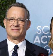 Tom Hanks och Rita Wilson.  Monica Almeida / TT NYHETSBYRÅN