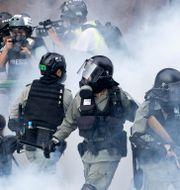 Bild från protester i Hongkong i november. Ng Han Guan / TT NYHETSBYRÅN